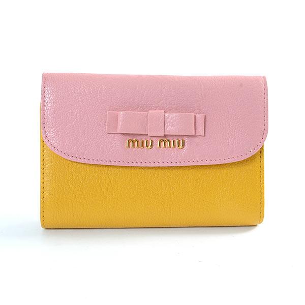 ミュウミュウ MIUMIU 2つ折り式財布 5M1225 中古A品
