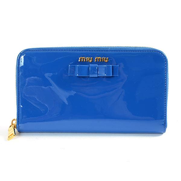 ミュウミュウ MIUMIU ラウンドファスナー式財布 5M0506 中古A品
