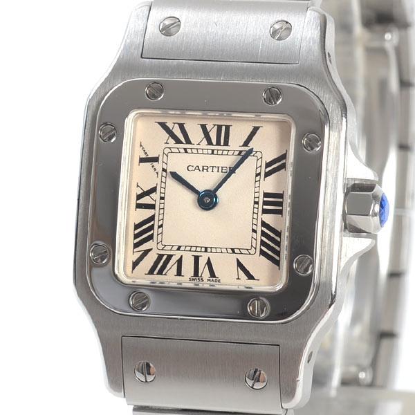 カルティエ Cartier サントスガルベSM W20056D6 中古A品