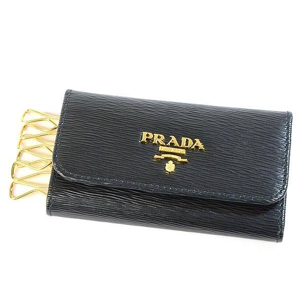 プラダ PRADA キーケース6レン 1PG222 中古A品