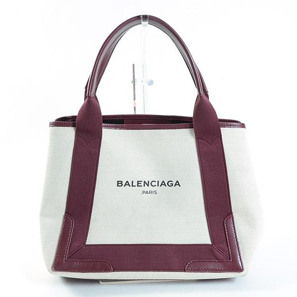 バレンシアガ BALENCIAGA ネイビーカバスS 339933 中古A品