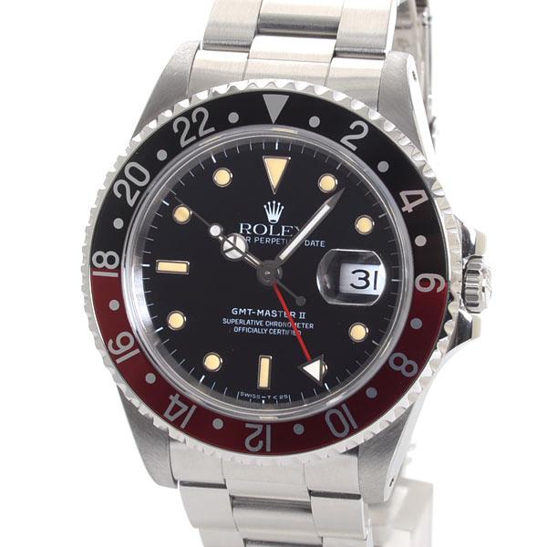 ロレックス ROLEX GMTマスター2 16710BK/RD 中古A品