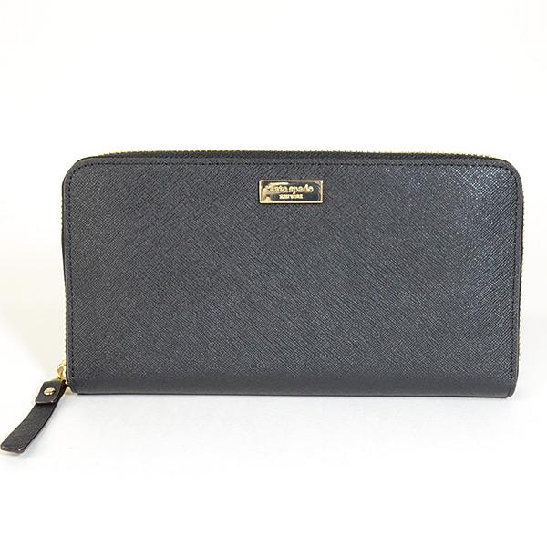 kate spade ケイトスペード ラウンドファスナー式財布 WLRU1498 中古A品
