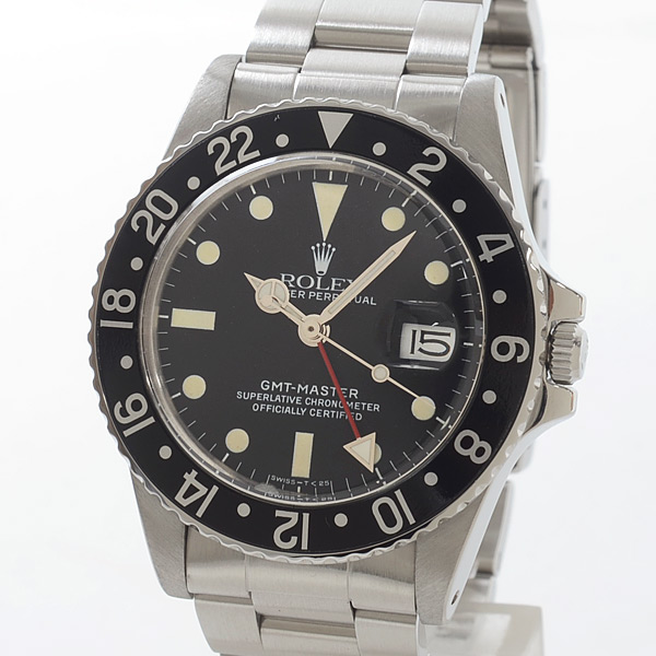 ロレックス ROLEX GMTマスター 16750BK/BK 中古A品