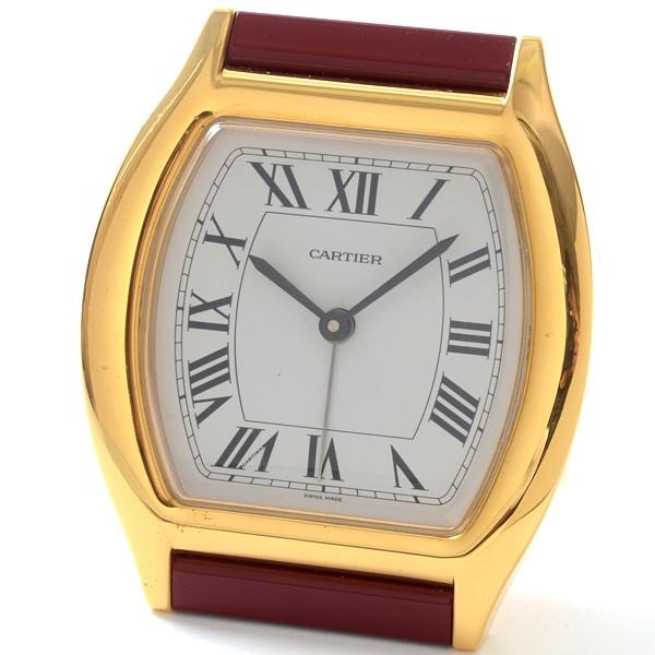 カルティエ Cartier トーチェ 置き時計 中古A品