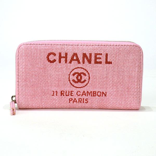 シャネル CHANEL ラウンドファスナー式財布 A80056 中古A品