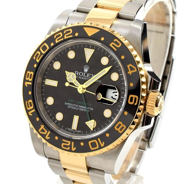 ロレックス ROLEX GMTマスター2 116713LN 中古A品