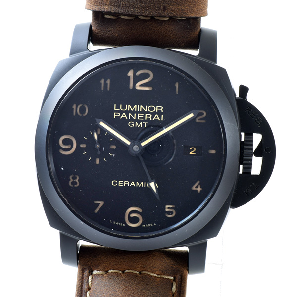 パネライ PANERAI ルミノール1950 3DAYS GMT PAM00441 中古A品