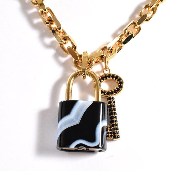 ルイヴィトン LOUISVUITTON パドロックネックレス M75433 中古A品