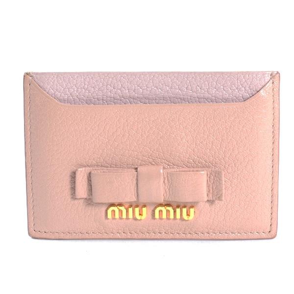 ミュウミュウ MIUMIU カードケース 5MC208 中古a品
