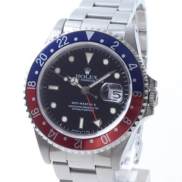 ロレックス ROLEX GMTマスター2 16710BL/RD 中古A品