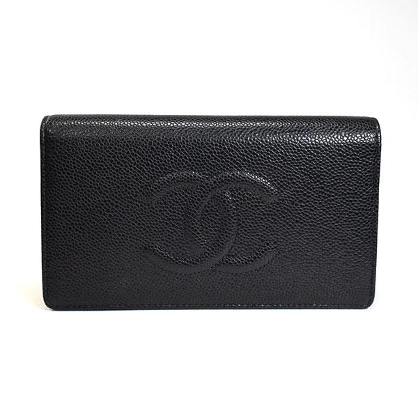 シャネル CHANEL 二つ折り長財布 A48651 未使用品