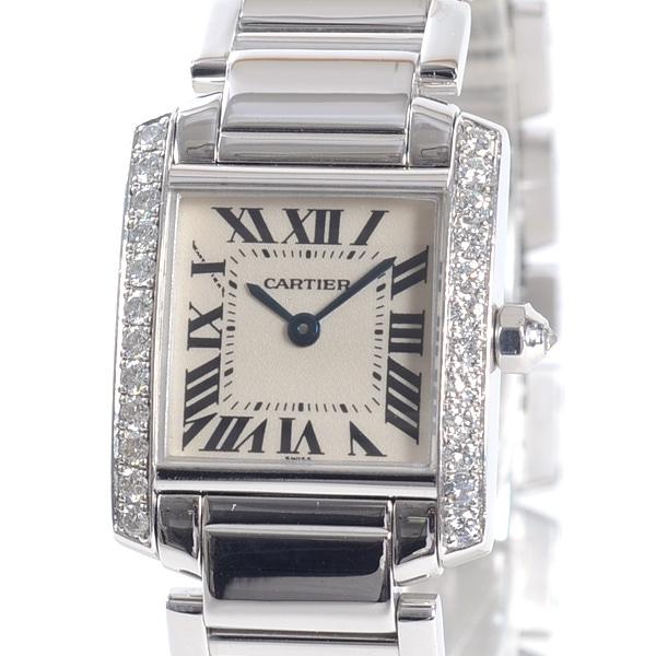 カルティエ Cartier タンクフランセ-ズSM WE1002S3 中古A品