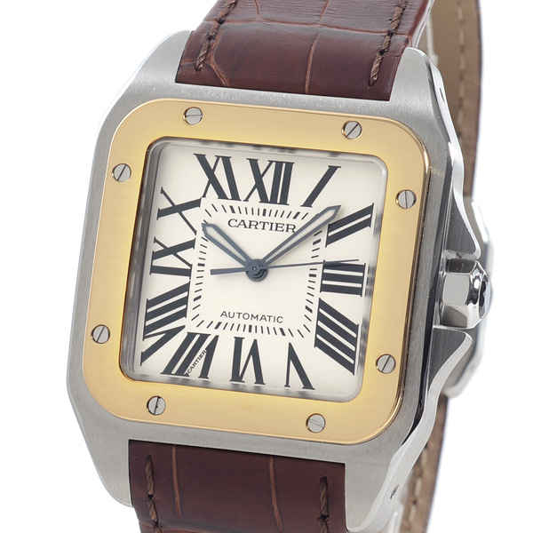 カルティエ Cartier サントス 100 ウォッチ LM W20072X7 中古A品