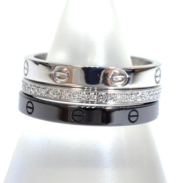 カルティエ Cartier ラブリング スリーフープ B4097853 中古A品