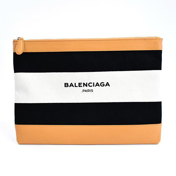 バレンシアガ BALENCIAGA ネイビークラッチ 420407 中古A品