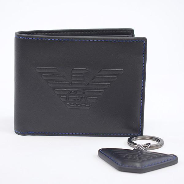 エンポリオアルマーニ Emporio Armani 二つ折り財布 Y4R174 未使用品