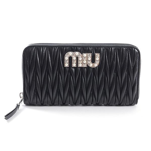 ミュウミュウ MIUMIU ラウンドファスナー式財布 5ML506 未使用品