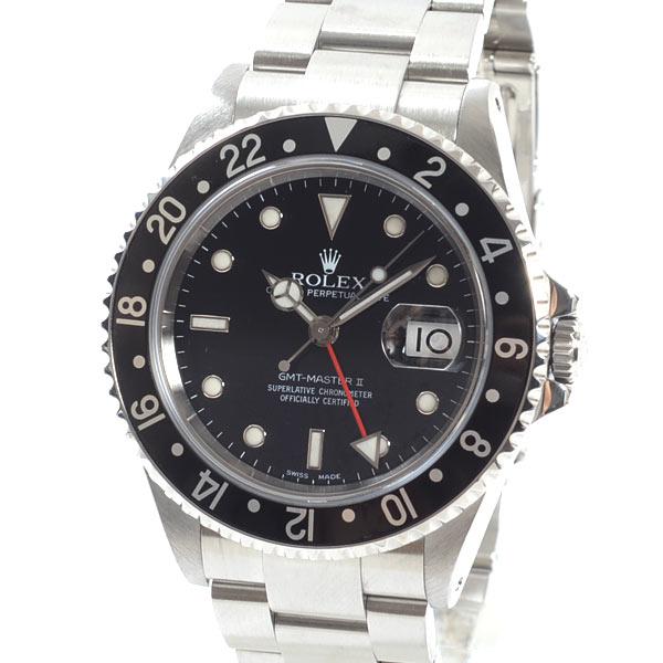 ロレックス ROLEX GMTマスター2 16710BK/BK 中古A品
