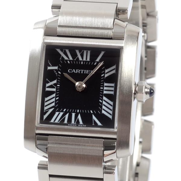 カルティエ Cartier タンクフランセーズSM W51026Q3 中古A品