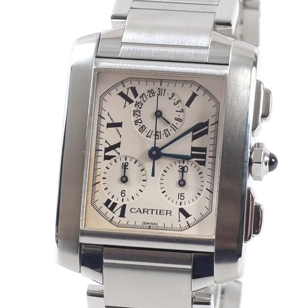 カルティエ Cartier タンクフランセーズクロノリフレックス W51001Q3 中古A品