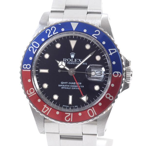 ロレックス ROLEX GMTマスター 16750BL/RD 中古A品