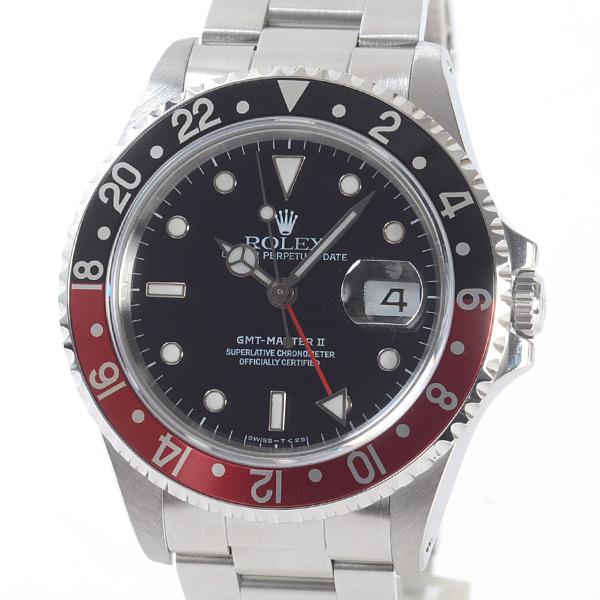 ロレックス ROLEX GMTマスター 16710BK/RD 中古A品