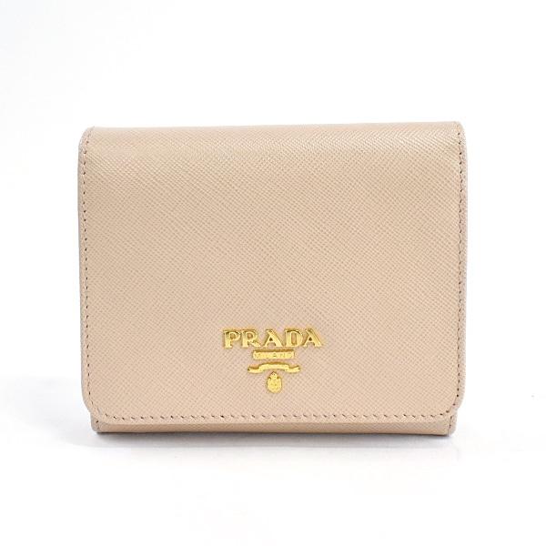 プラダ PRADA 3つ折り式財布 1MH176 中古A品