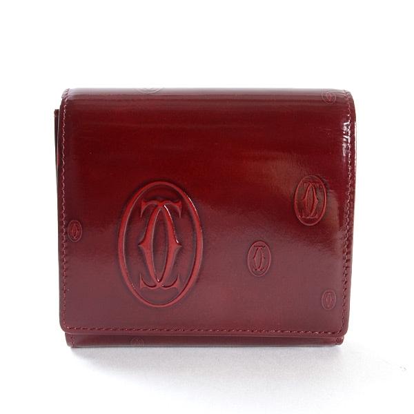 カルティエ Cartier ハッピーバースデー 3つ折り式財布 中古A品
