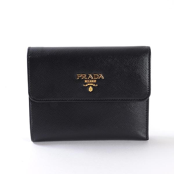 プラダ PRADA 3つ折り式財布 中古A品