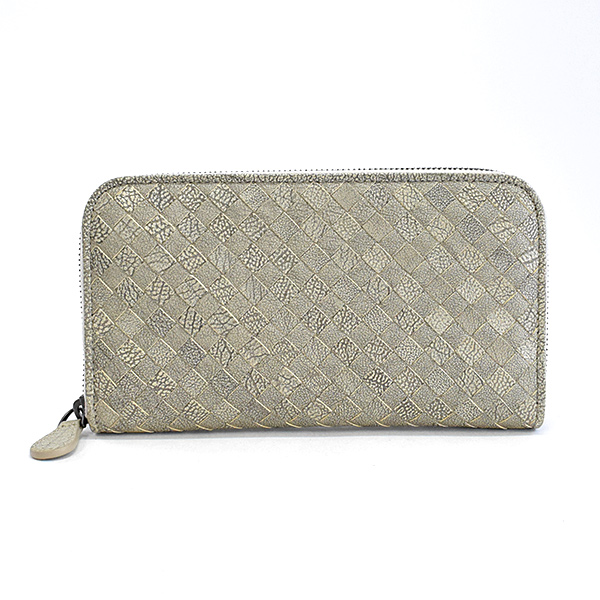 ボッテガヴェネタ BOTTEGA VENETA ラウンドファスナー式財布 114076 中古A品