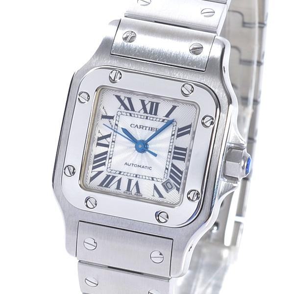 カルティエ Cartier サントスガルベSM W20054D6 中古A品