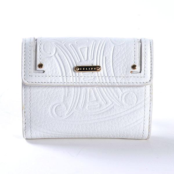 セリーヌ CELINE Wホック式財布 107493NGR 中古A品