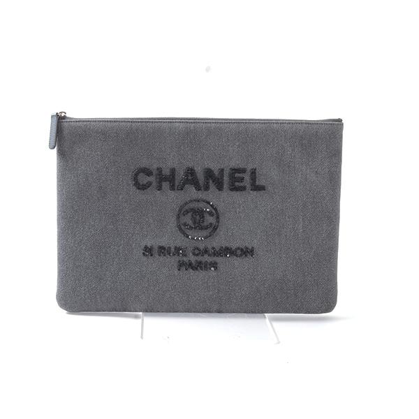シャネル CHANEL ドーヴィルライン クラッチ A80117 未使用品