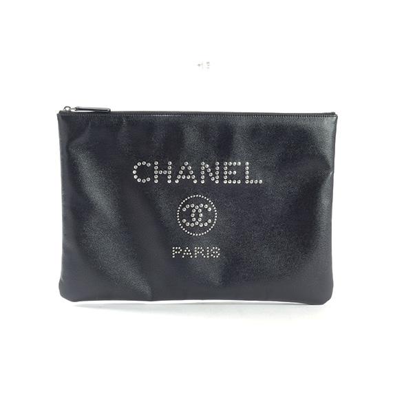 シャネル CHANEL ドーヴィルライン クラッチバッグ A80802 中古A品