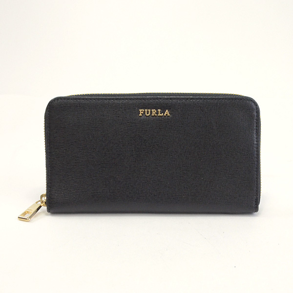 フルラ FURLA ラウンドファスナー式財布 中古A品