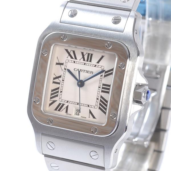 カルティエ Cartier サントスガルベLM W20060D6 中古A品