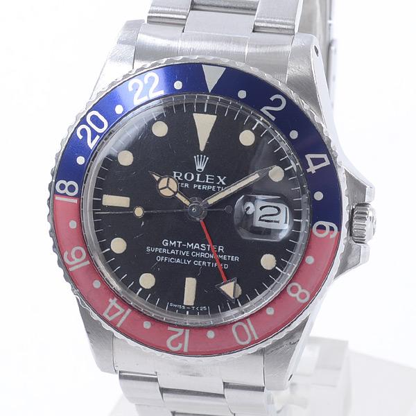 ロレックス ROLEX GMTマスター 1675BL/RD 中古A品