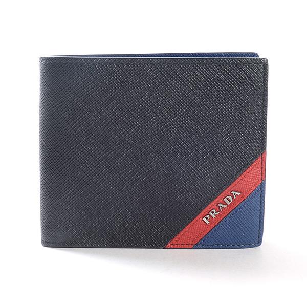プラダ PRADA 2つ折り式財布 2MO738 中古A品