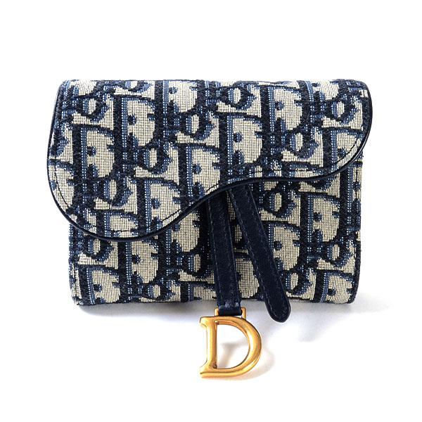 ディオール Dior サドル 3つ折り式財布 中古A品