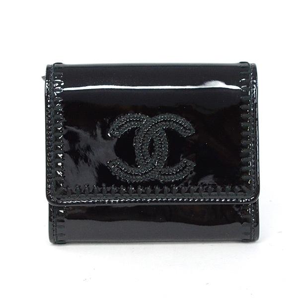シャネル CHANEL 2つ折り式財布 中古A品