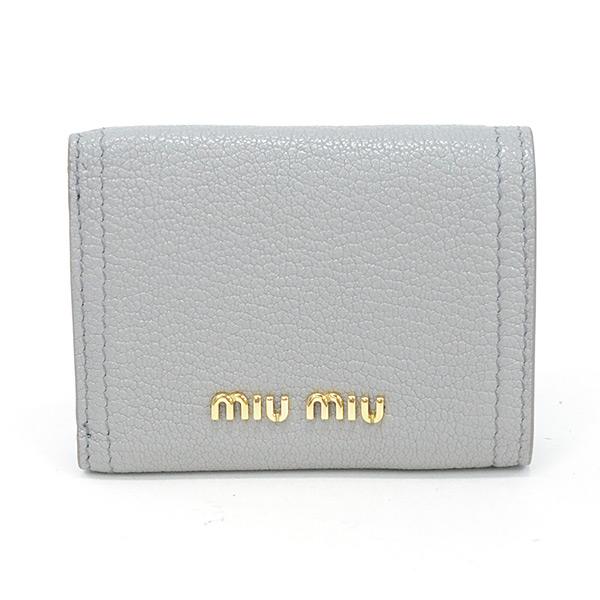 ミュウミュウ MIUMIU マドラスレザー財布 5MH021 中古A品