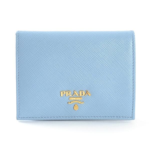 プラダ PRADA 二つ折式財布 1MV204 中古A品