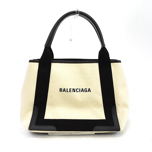 バレンシアガ BALENCIAGA ネイビーカバス 339933 中古A品