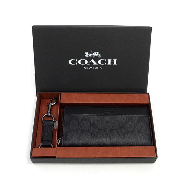 コーチ COACH ラウンドファスナー式財布(キーホルダーセット) F41345 未使用品