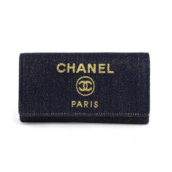シャネル CHANEL 2つ折り式長財布 A81976 新品