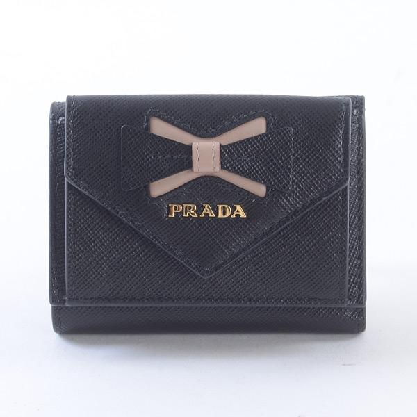 プラダ PRADA 3つ折り式財布 1MH021 未使用品