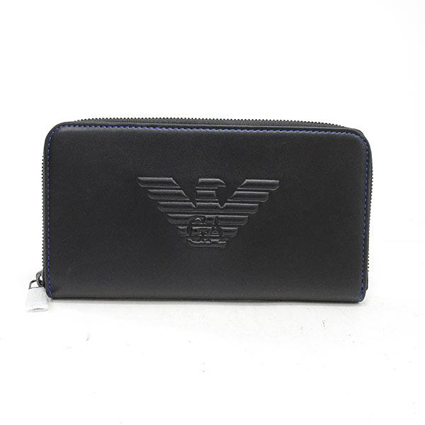 エンポリオアルマーニ Emporio Armani ラウンドファスナー式財布 YEME49-YG90J 未使用品