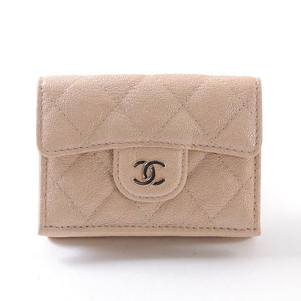 シャネル CHANEL 3つ折り式財布 中古a品