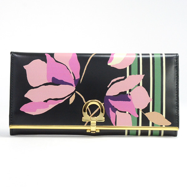 フェラガモ Ferragamo 2つ折り式長財布 IK-22 C495 中古A品